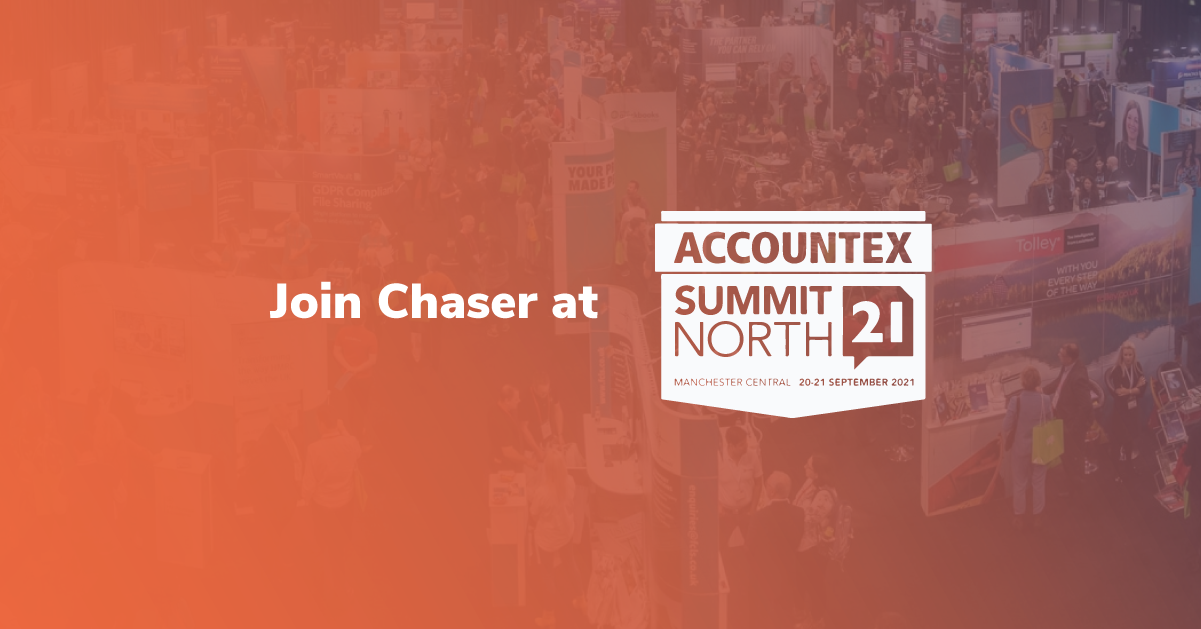 Chaser is exhibiting at the Accountex Summit North 2021 in Manchester