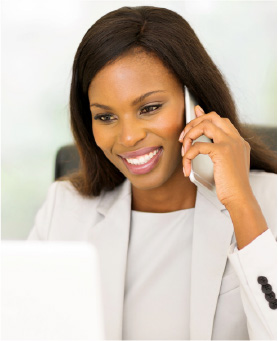 Accountant maintaining relationships with customers while collecting payments
