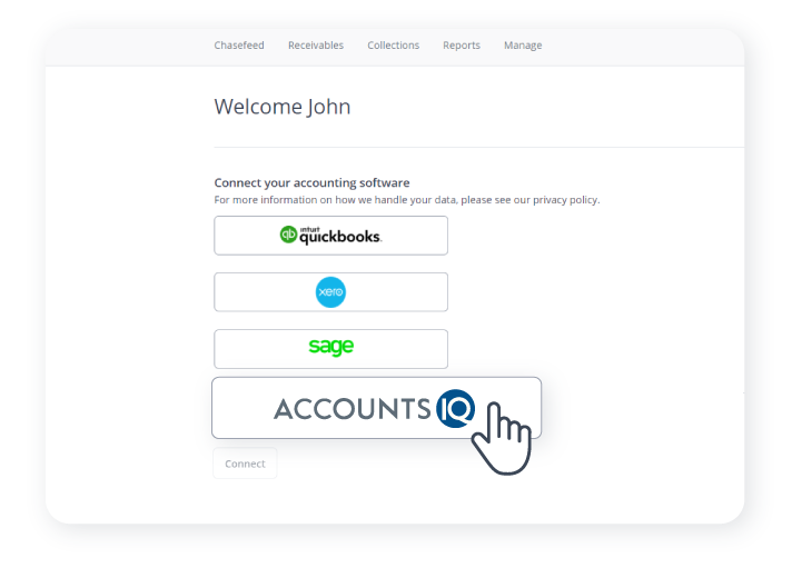 Chaser integrationsSelect the AccountIQ option to connect