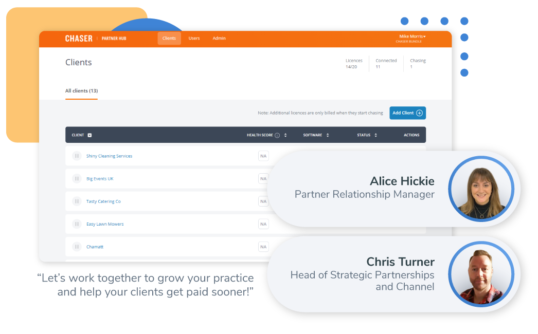 Chaser partners-Accountants and bookkeepers-Partner Hub preview