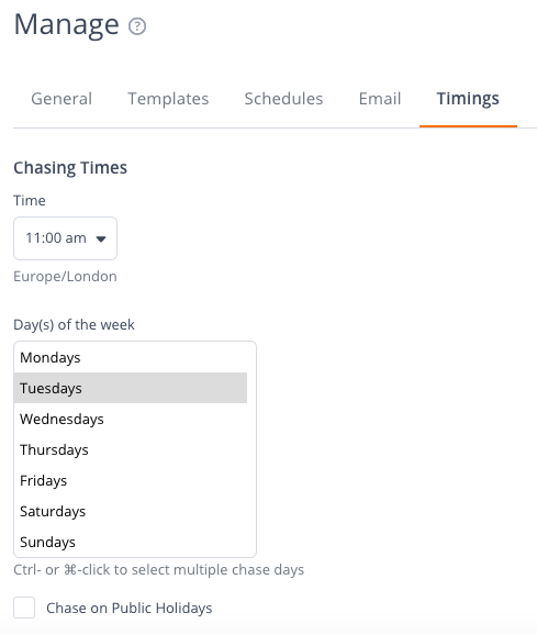 Chaser-Select_chase_times_and_days